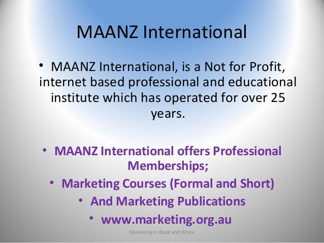 MAANZ International • MAANZ International, is a Not for Profit, internet based professional and educational institute whic...