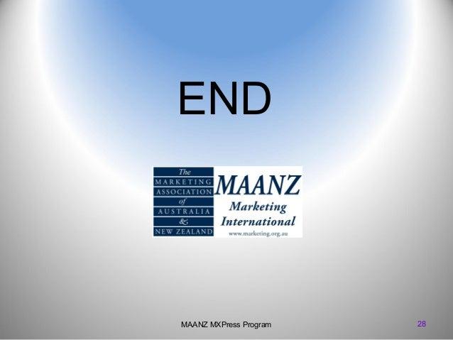 END  MAANZ MXPress Program  28