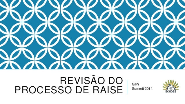 REVISÃO DO PROCESSO DE RAISE  GIPi Summit 2014