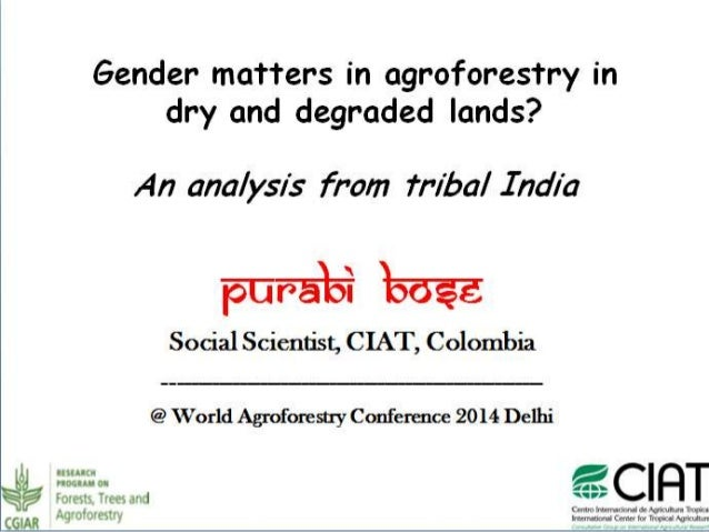 Key highlights   Gender matters: trees, forests, agroforestry.    Tenure and access rights demands attention.    Drylan...