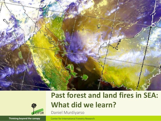 Past forest and land fires in SEA: What did we learn? Daniel Murdiyarso