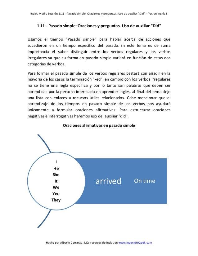 Conocer En Ingles Pasado Simple Afirmativas Negativas E