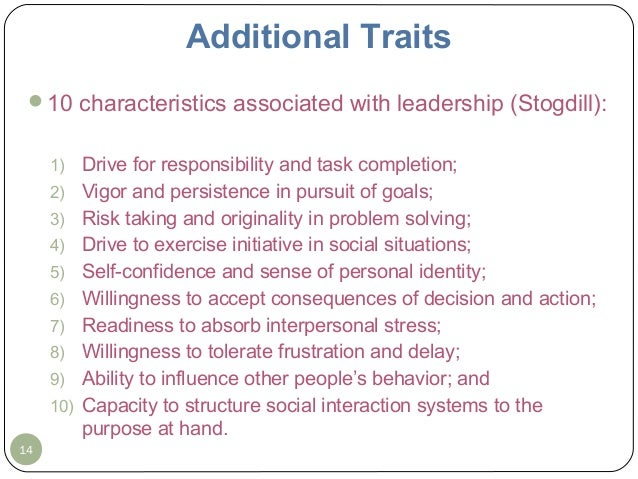 MSMC BUS 3180 1.28.14 lecture ppt topic 2 leadership traits