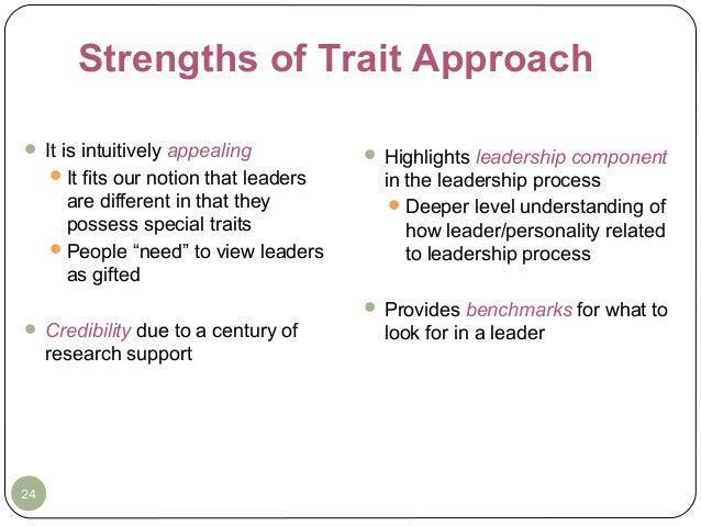 trait theory of leadership ppt