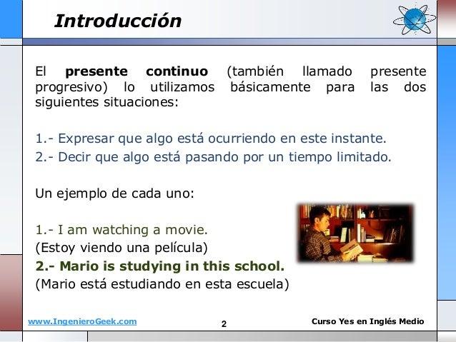 1 5 el presente continuo y reglas del verbo en gerundio ing for En resumen en ingles