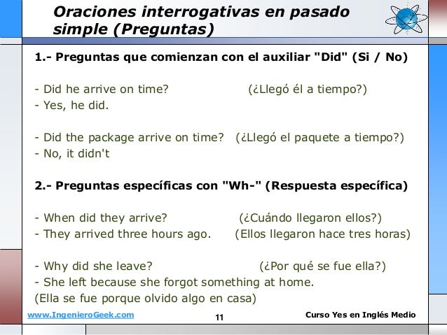 Ingles Pasado Simple