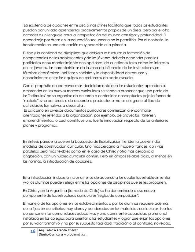 El Diseño Curricular y su problemática.- Fabiola Aranda Chávez