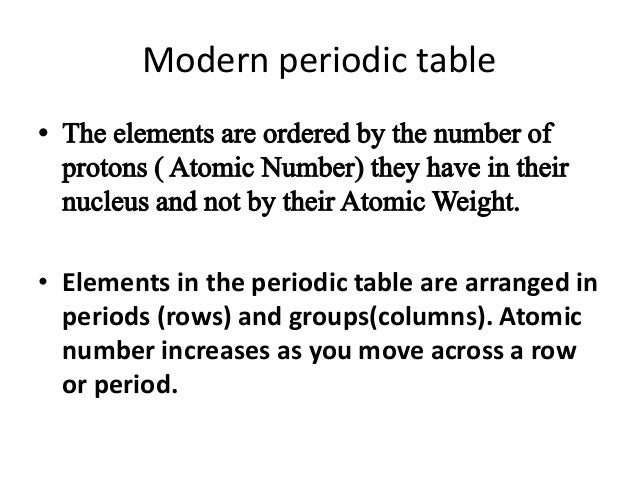 13 modern periodic table - Periodic Table Without Atomic Number
