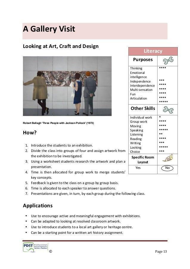 1 literacy in art craft and design pdst 2013. Black Bedroom Furniture Sets. Home Design Ideas