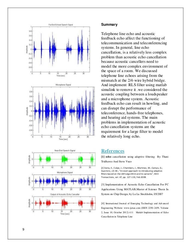 thesis papers digital echo canceller