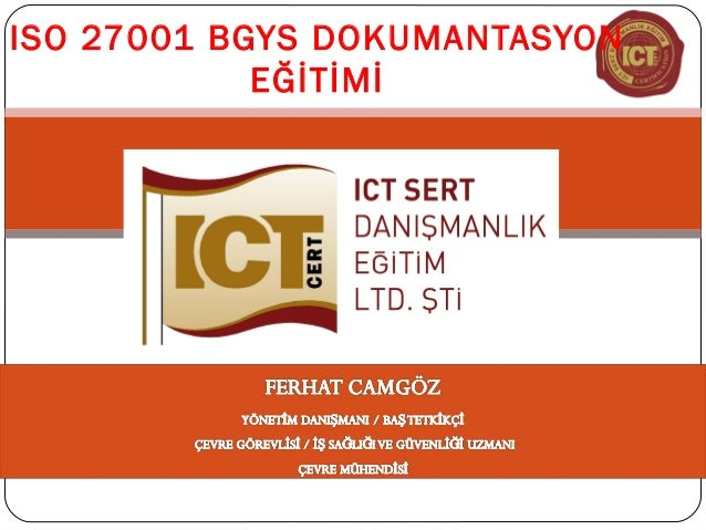ISO 27001 BGYS DOKUMANTASYON EĞİTİMİ