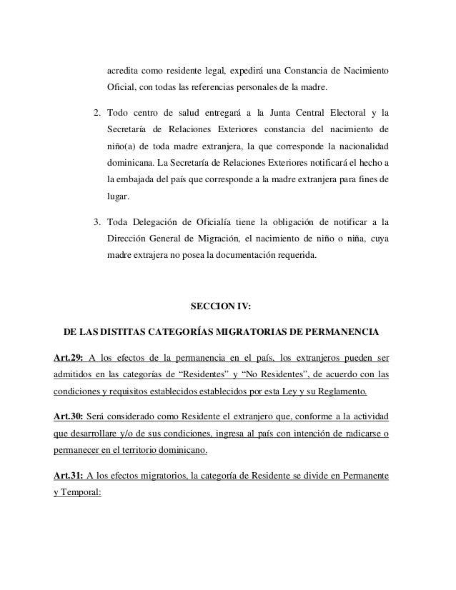 1.ley sobre migración n° 285 del 15 de agosto de 2004 (reemplaza la l…