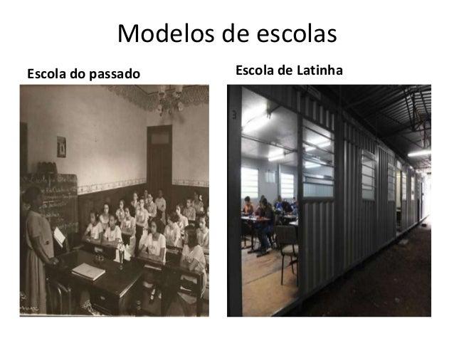 Modelos de escolas Escola do passado Escola de Latinha