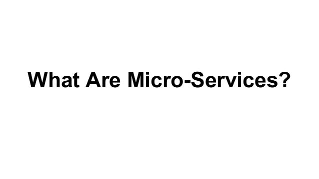 What Are Micro-Services?