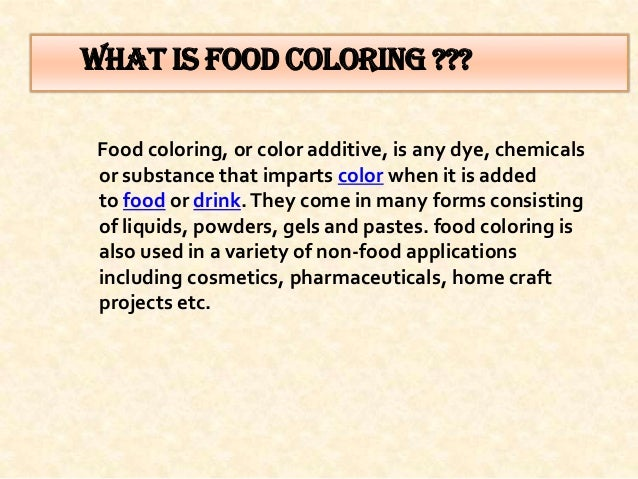 food colouring