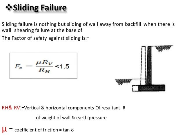 Sliding Retaining Wall : Retaining walls ppt