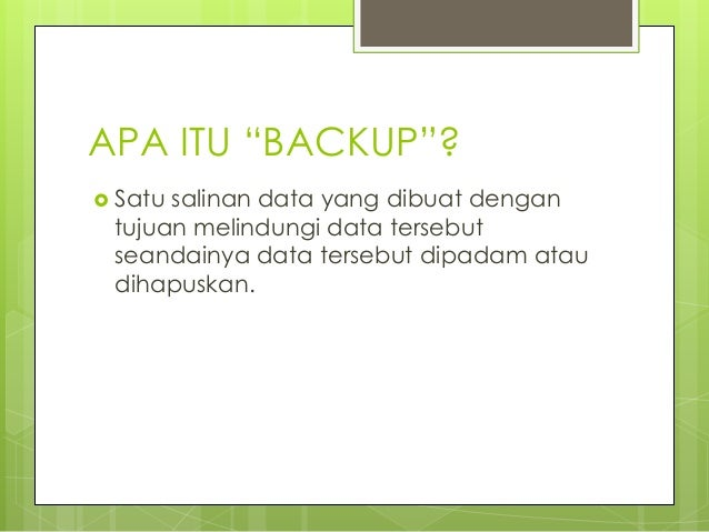 1.storage management handling backup