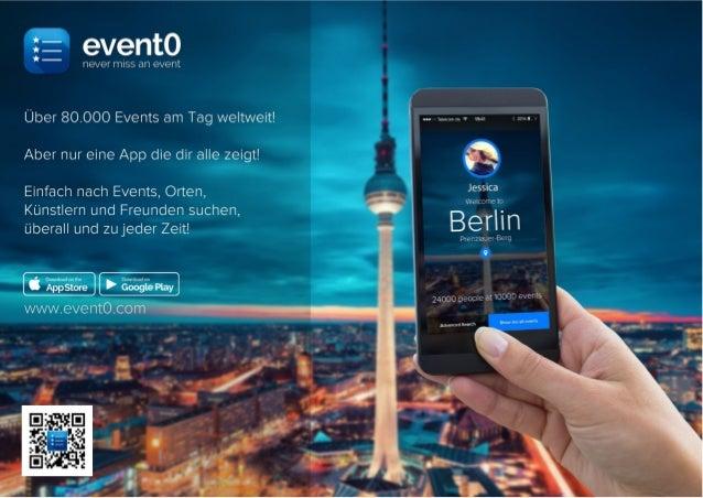 ! Event0 - Kein Event mehr verpassen! Das ist die neue App aus der Gründerstadt Berlin die dir hilft schnell und unkompliz...