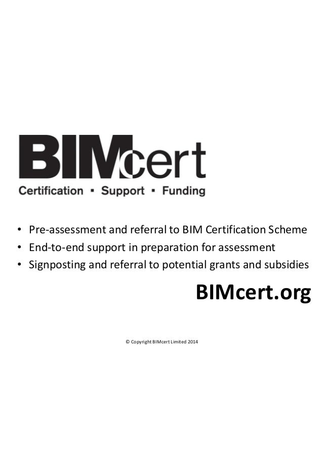 Bim Requirements And Opportunities 2014