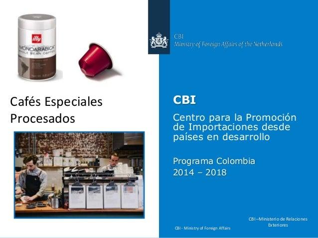 CBI - Ministry of Foreign Affairs CBI Centro para la Promoción de Importaciones desde países en desarrollo Programa Colomb...