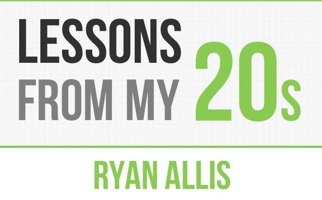 Ryan Allis 20sfrom my lessons