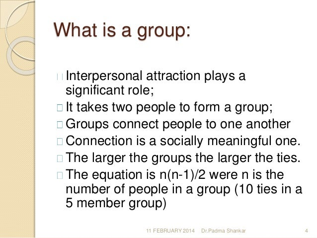 What is the group