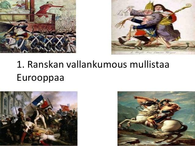 1. Ranskan vallankumous mullistaa Eurooppaa