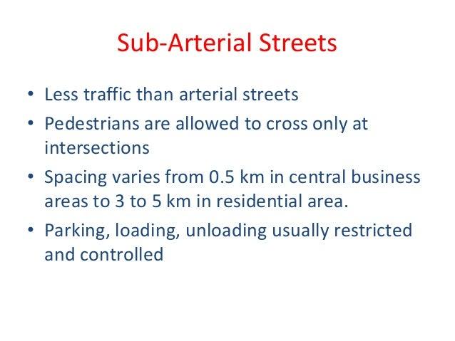 1 classification of urban roads 28 jun sub arterial sciox Choice Image