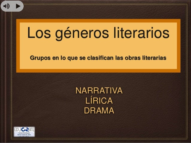 Los géneros literarios  Grupos en lo que se clasifican las obras literarias  NARRATIVA  LÍRICA  DRAMA