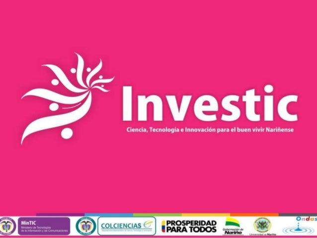 Proyecto  Investic  1. Estructura  orgánica  2. Objetivo  3. Localización  4. Población  beneficiada  5. Alternativas (7) ...