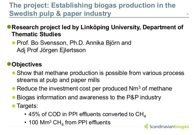 research paper on biogas production The journal publishes articles on renewable energy, energy  in this study we  compare firewood consumption with biogas potential from.