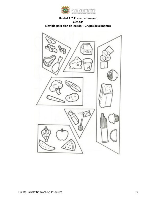 1.7 ejemplo para plan de lección grupos de alimentos