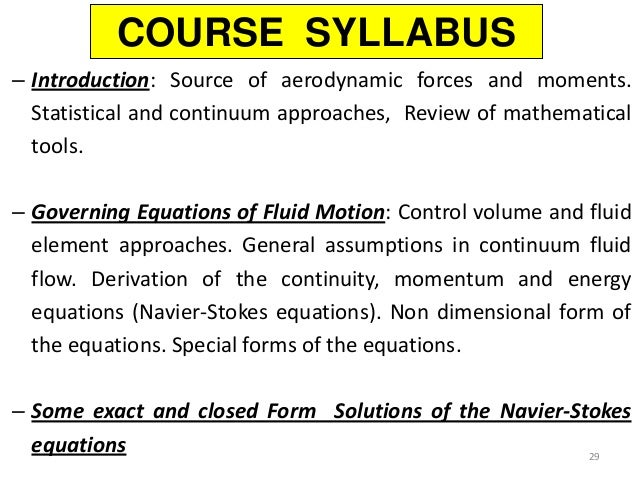 Control Volume Aerodynamic : Introduction aerodynamics