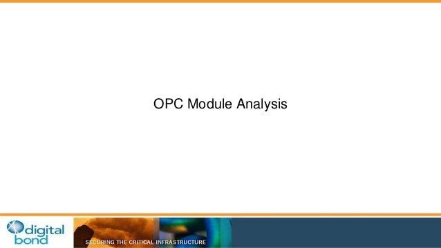 OPC Module Analysis