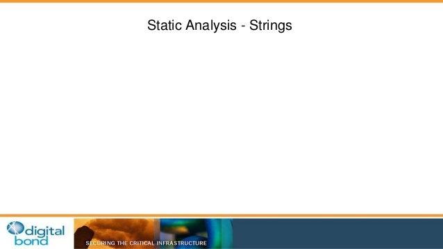 Static Analysis - Strings