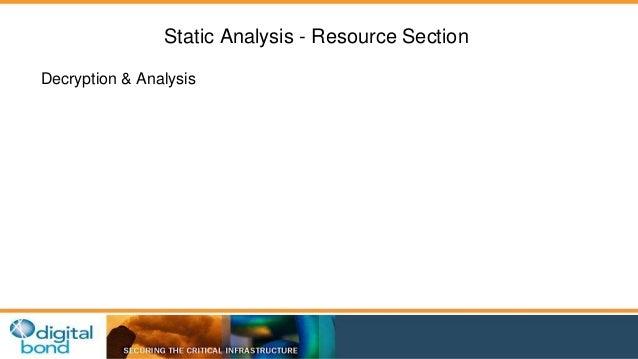Static Analysis - Resource Section  Decryption & Analysis
