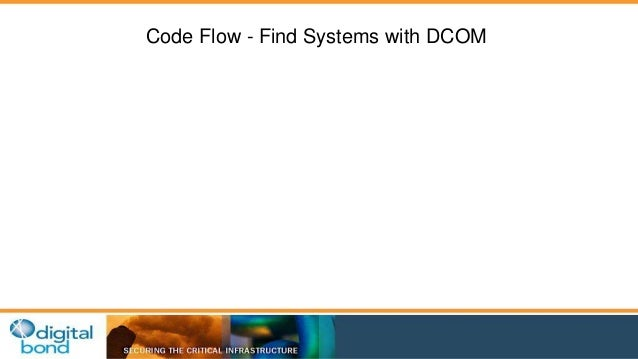 Code Flow - Find Systems with DCOM