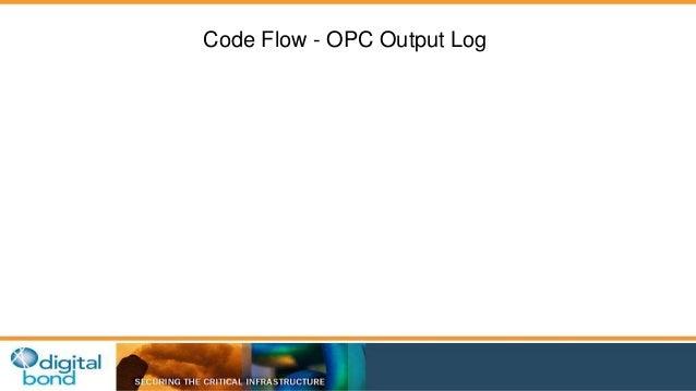 Code Flow - OPC Output Log
