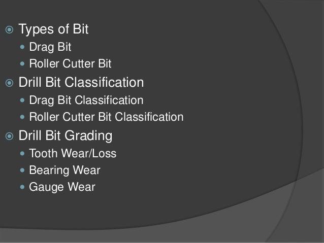   Types of Bit    Drag Bit    Roller Cutter Bit    Drill Bit Classification    Drag Bit Classification    Roller Cut...