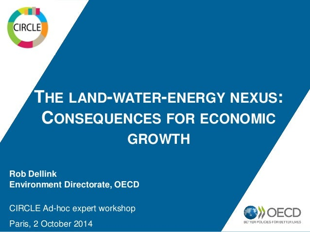THE LAND-WATER-ENERGY NEXUS:  CONSEQUENCES FOR ECONOMIC GROWTH  Rob Dellink  Environment Directorate, OECD  CIRCLE Ad-hoc ...