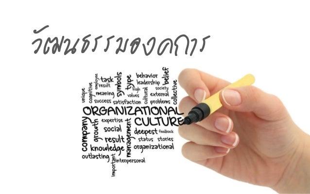 วัฒนธรรมองค์การ