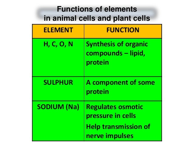Plant Chemical Components : Biology form chapter chemical composition of the