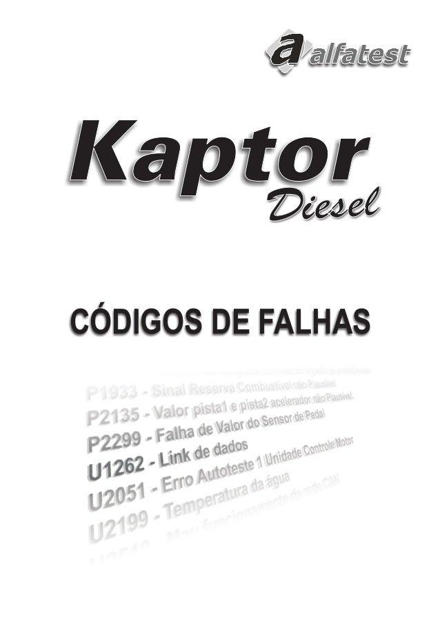 Kaptor  ieselDieselD  CÓDIGOS DE FALHAS