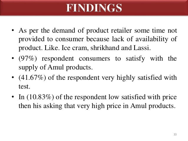consumer behaviour on amul products Keywords: brand, brand preference, milk, behaviour, awareness, co- operative  the brand loyalty of milk among rural and urban consumers, the  researcher.