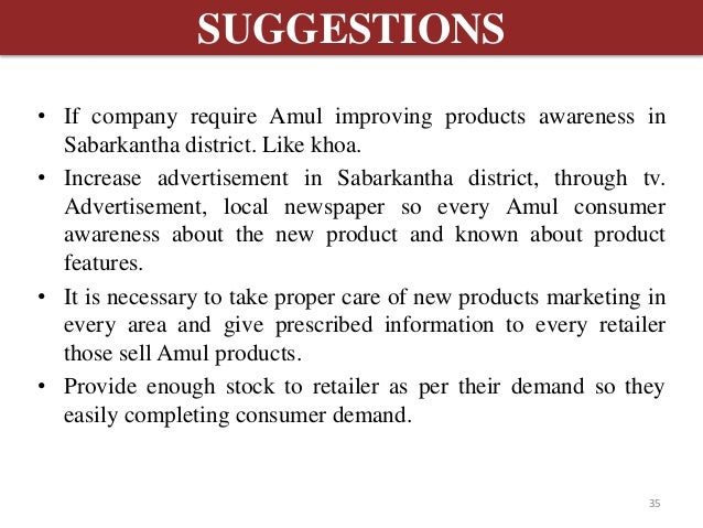 Literature Review Of Customer Satisfaction Of Amul Products