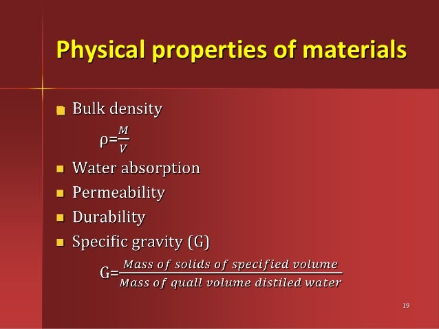 Building materials elements of civil engineering physical properties of materials 19 sciox Images