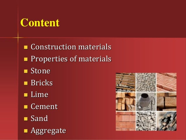 Building materials elements of civil engineering List of materials to build a house
