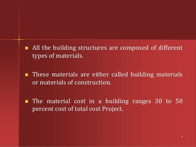 Civil by taran er for Construction materials cost