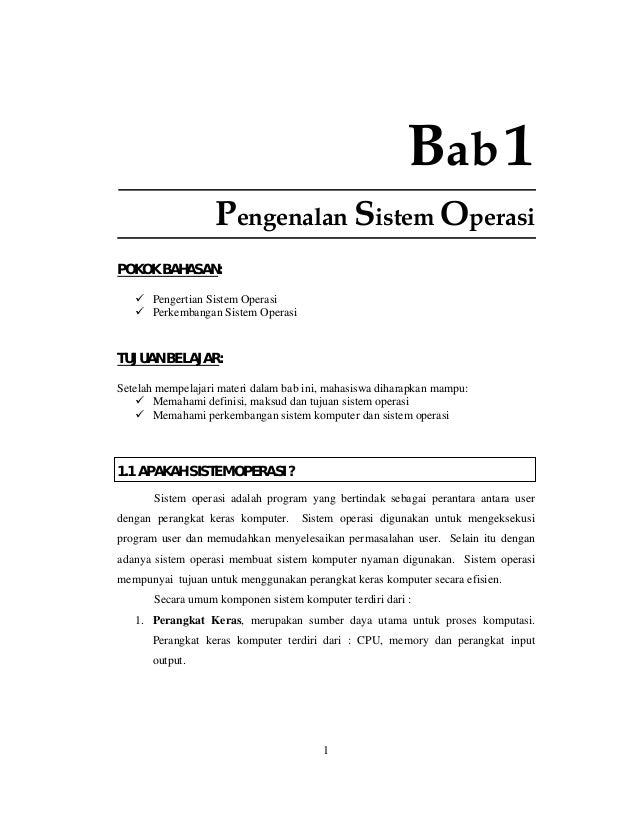 1ngenalan sistem operasi 1 bab1 pengenalan sistem operasi pokok bahasan pengertian sistem operasi perkembangan sistem operasi tujuan belajar ccuart Image collections
