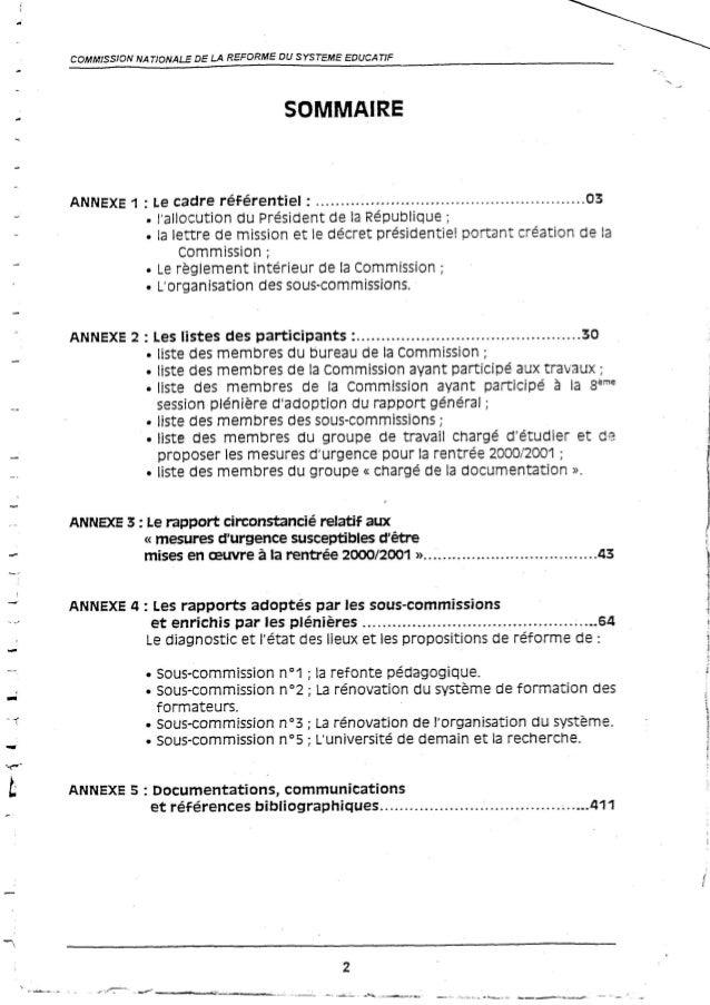 Le rapport de la commission Benzaghou de la page 1 à 109
